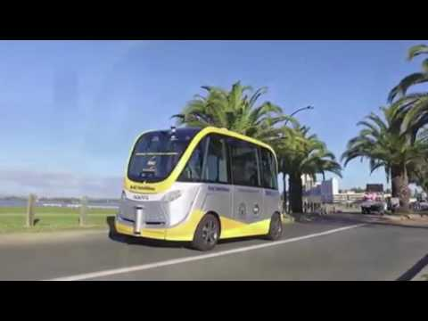 First driverless electric shuttle bus on road trials in Perth