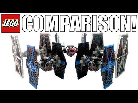 LEGO Star Wars Tie Fighters Comparison! (7146, 7263, 9492, 75101, 75211, 75095)