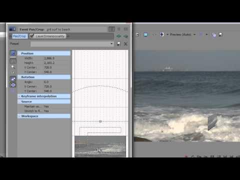 Sony Vegas Pro Basics FORTY: Track Motion & 3D Track Motion