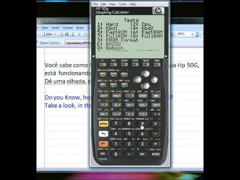 HP 50G TESTE DE FUNCIONAMENTO