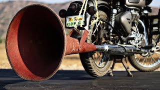 We Made 10x Louder Bullet Bike Silencer | Top Awesome Experiment with Royal Enfield Exhuast