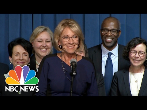 Betsy DeVos Stresses Open Dialogue, Pokes Fun At 'Grizzly' Testimony | NBC News