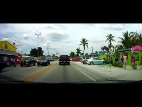 Driving through Matlacha, Florida