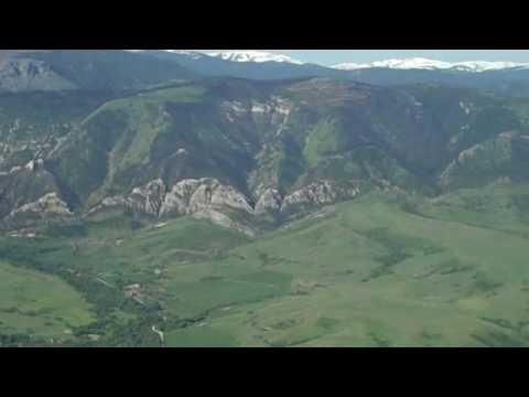 A flight along the Big Horn Mountains, Sheridan WY