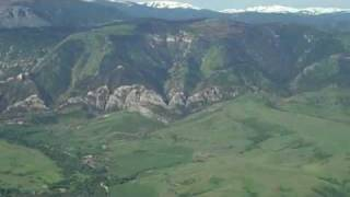 A flight along the Big Horn Mountains, Sheridan WY