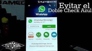 Quitar el doble check azul (las palomitas azules) Nuevo WhatsApp 2015 Thumbnail