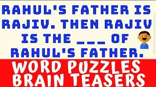 WORD #PUZZLES BRAIN TEASERS