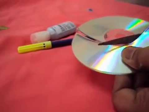 How to make moon from waste cd 39 s youtube for Best use of waste