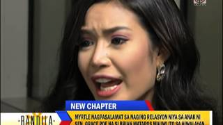 Emotional Myrtle Sarrosa talks about break-up