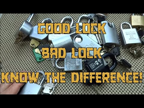 (405) Choosing a High Security Lock
