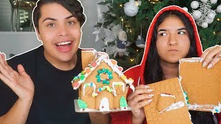 WE TRIED MAKING GINGERBREAD HOUSES AND THIS HAPPENED...