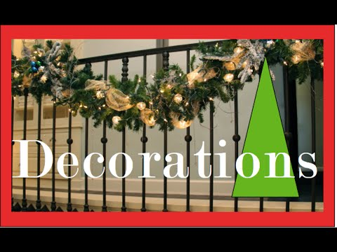 garlands on the staircase and banister christmas decorating and decorations youtube - Banister Christmas Garland Decor