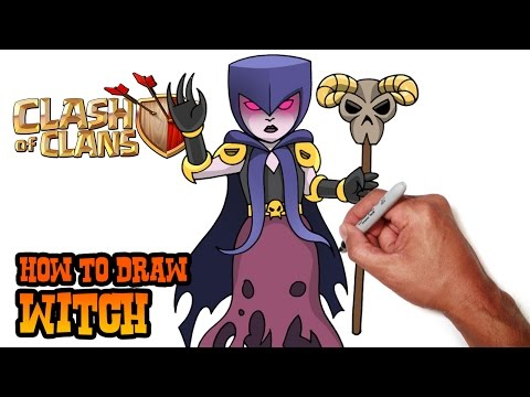 How To Draw Clash Of Clans   Witch