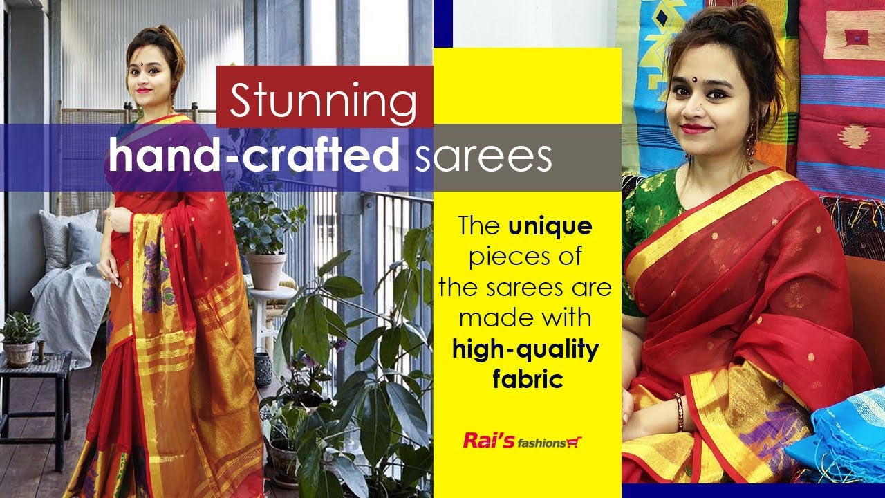 Stunning Hand-crafted Sarees From Rai's Fashions (03rd July) - 01JR