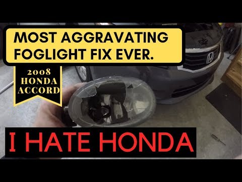 How to Change Fog light Housing 2008-2012 Honda Accord
