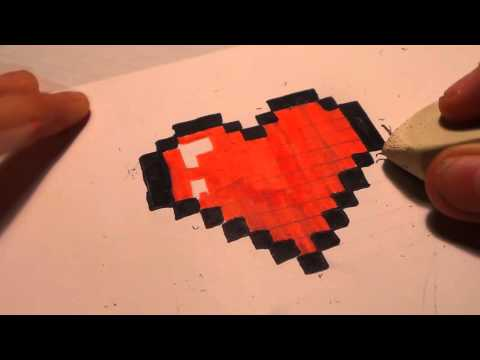 Coeur Dessin Pixel Art Youtube