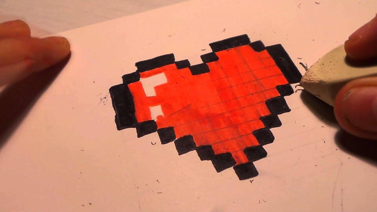 Coloriage Pixel Coeur Coloriage Pixel Art Coeur