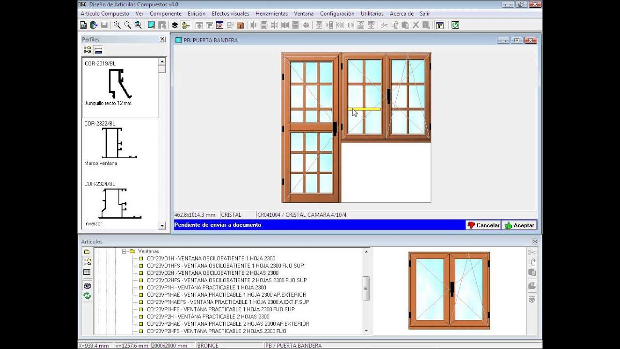 una puerta bandera programa para carpinter a de aluminio