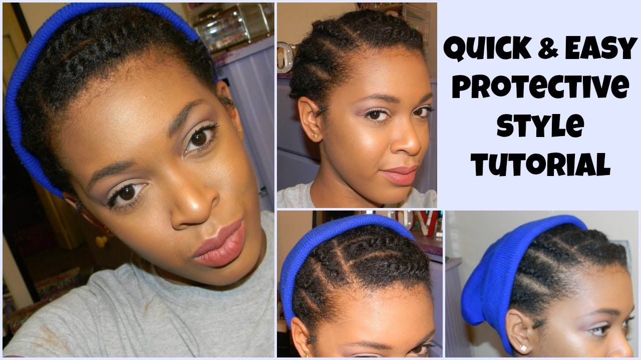 Protective Style Tutorial For Short 4c Hair Youtube