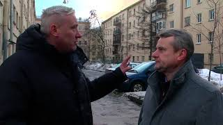 Уборка снега в Кировском районе