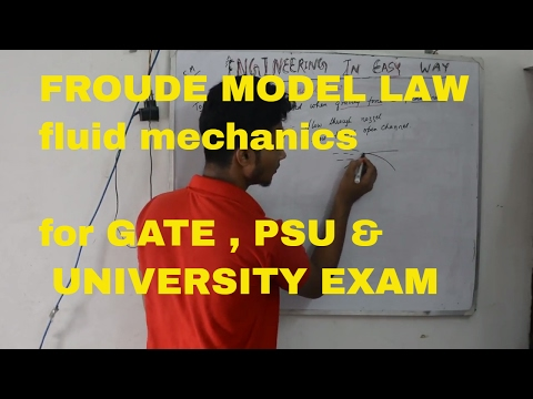 froude model law (hindi) FLUID MECHANICS
