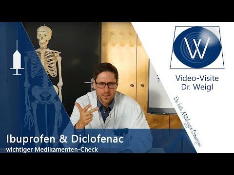 Schmerzmittel Ibuprofen & Diclofenac - Wirkung und Nebenwirkungen // IHR Medikamenten-Check