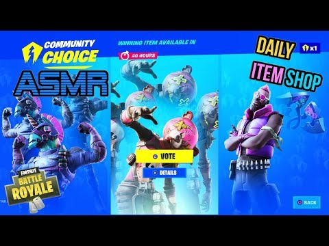 ASMR | Fortnite 3 NEW Skins Vote Now! Daily Item Shop 🎮🎧Relaxing Whispering😴💤