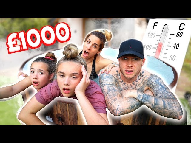 LAST TO LEAVE THE HOT TUB WINS $1000 CHALLENGE