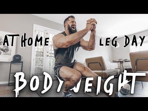 Most EFFECTIVE Bodyweight Leg Workout - Stuck At Home W/ NO EQUIPMENT!!