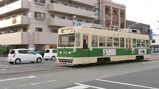 広島電鉄700形713号&1900形1913号 舟入幸町〜舟入川口町