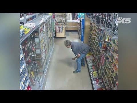Raw: Surveillance footage at Tumwater Walmart during June shooting