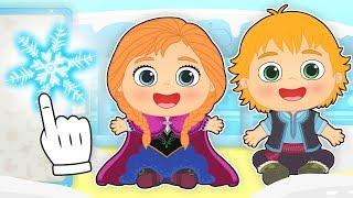 BEBES ALEX Y LILY se disfrazan del cuento de la reina del hielo 🦌 Dibujos animados infantiles