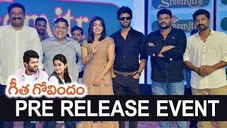 Geetha Govindam Movie Pre Release Event - Vijay Devarakonda, Rashmika Mandanna