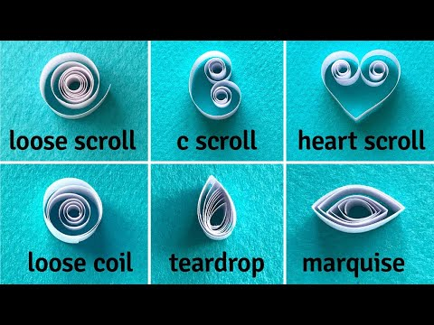 Quilling for Beginners - Basic Shapes Tutorial