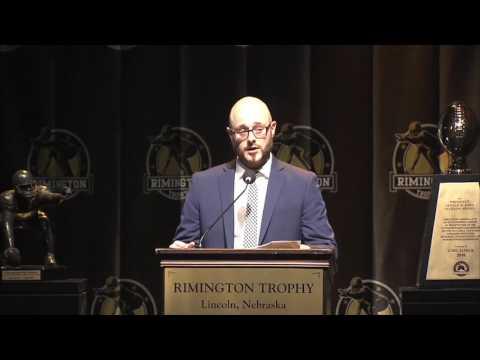 2017 Rimington Trophy Speech nicholas bell