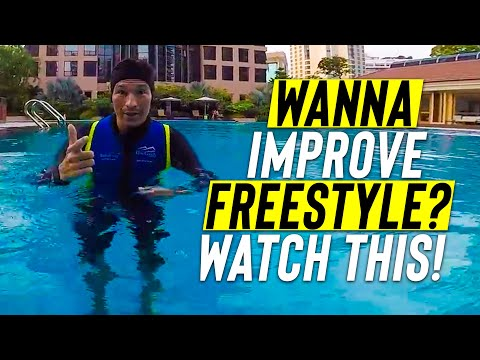 Adult BEGINNER learn to IMPROVE FRONT CRAWL & SWIM FREESTYLE to glide better