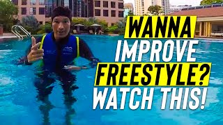 Video Adult BEGINNER learn to IMPROVE FRONT CRAWL & SWIM FREESTYLE to glide better download MP3, 3GP, MP4, WEBM, AVI, FLV Juli 2018