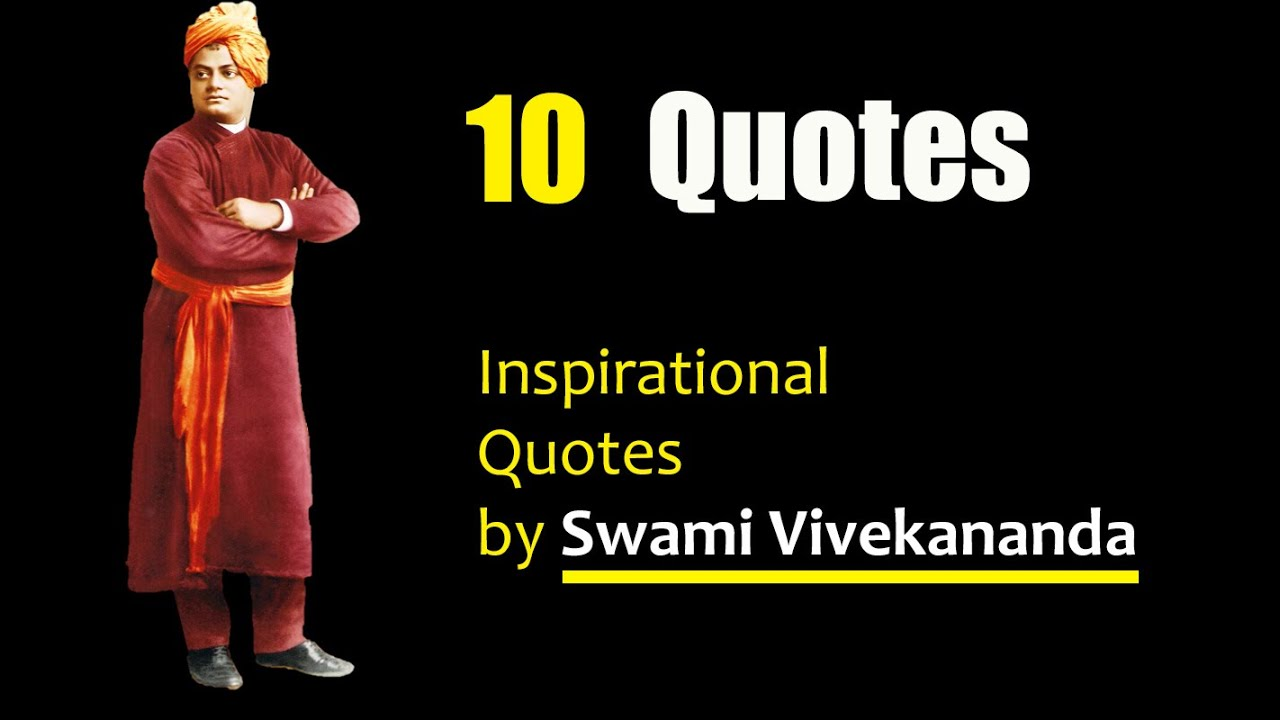 10 Inspirational Quotes By Swami Vivekananda - English ...