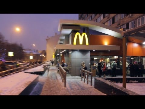 "First and Biggest McDonalds in Russia at Pushkin's Square, Moscow. ""Real Russia"" ep.32"