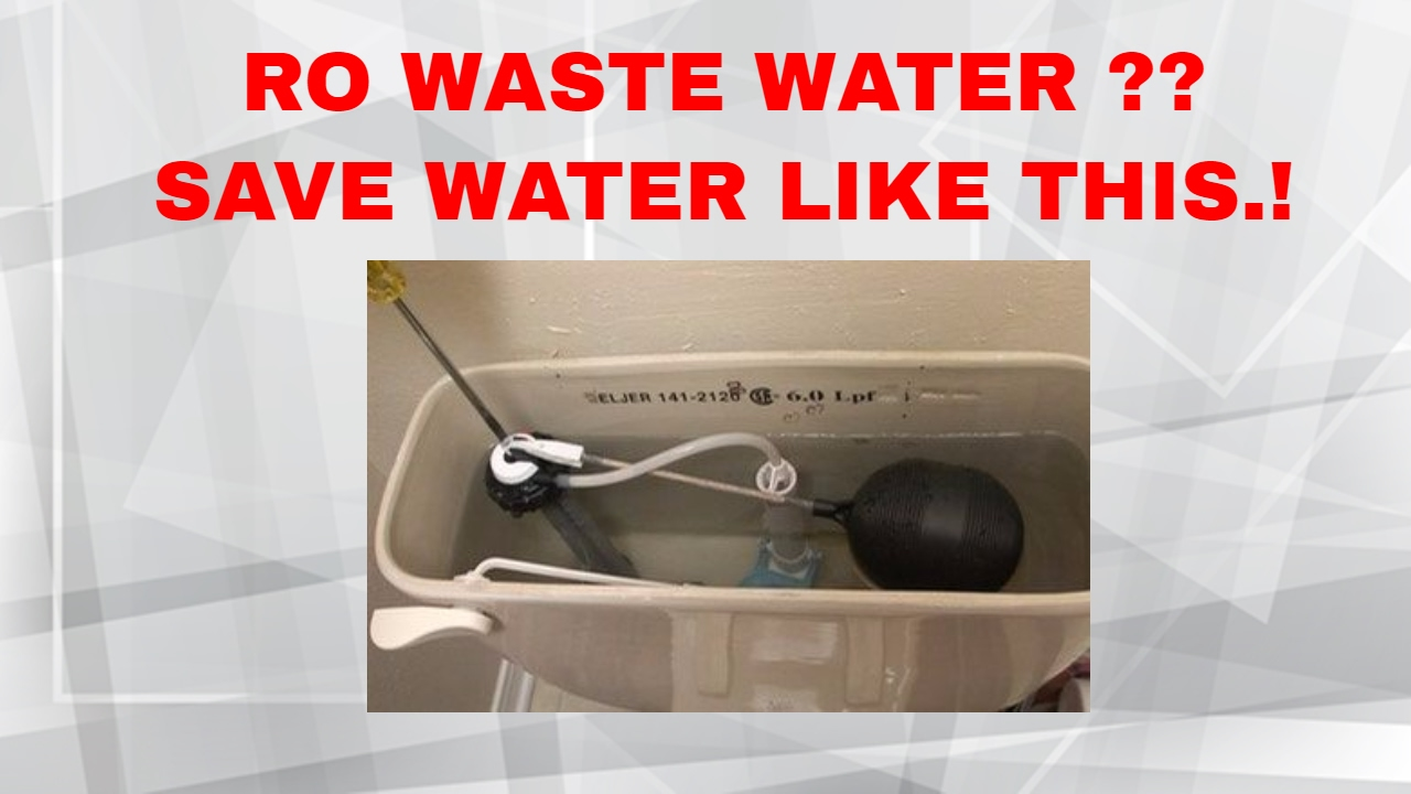 How to waste water