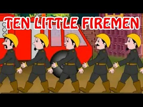 Ten Little firemen  Animated Nursery Rhyme in English Language