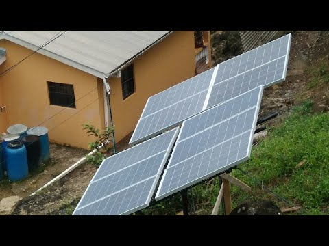 DIY SOLAR PANEL MOUNTS FOR 1000 WATT SOLAR PANELS: Charging The Batteries On A Cloudy Day