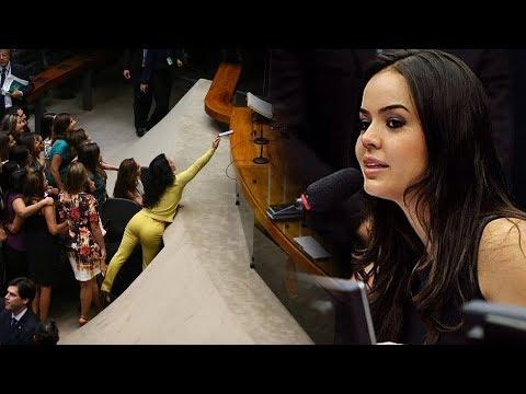 Deputada Shéridan é chamada de 'gostosa' ao ser convocada para votar; veja vídeo thumbnail