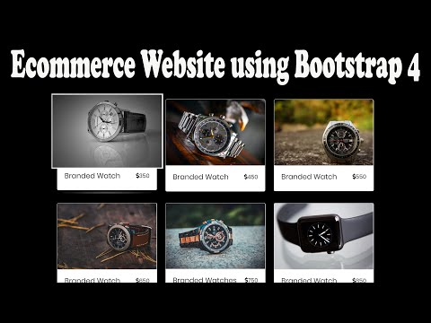 Ecommerce Website HTML | CSS | Bootstrap 4 | E-commerce Responsive Website