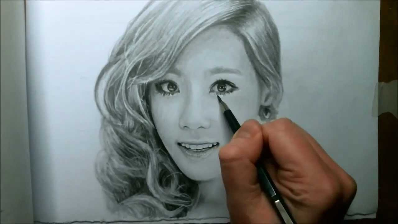 Uncategorized Drawing Video taeyeon drawing video youtube