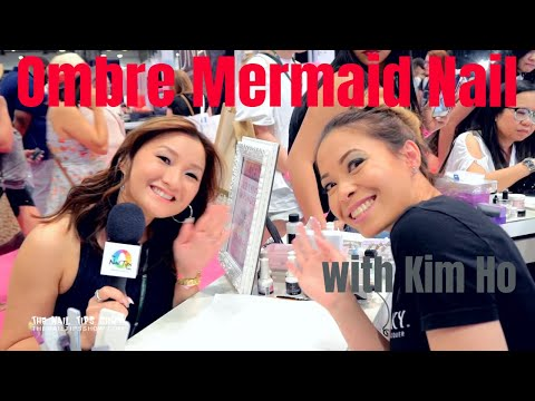 Ombre Mermaid Nail by Kim Ho with Kiara Sky Dip Powder