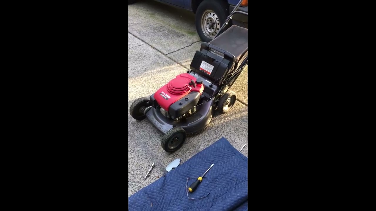 Increase rpm on Honda Commercial lawnmower