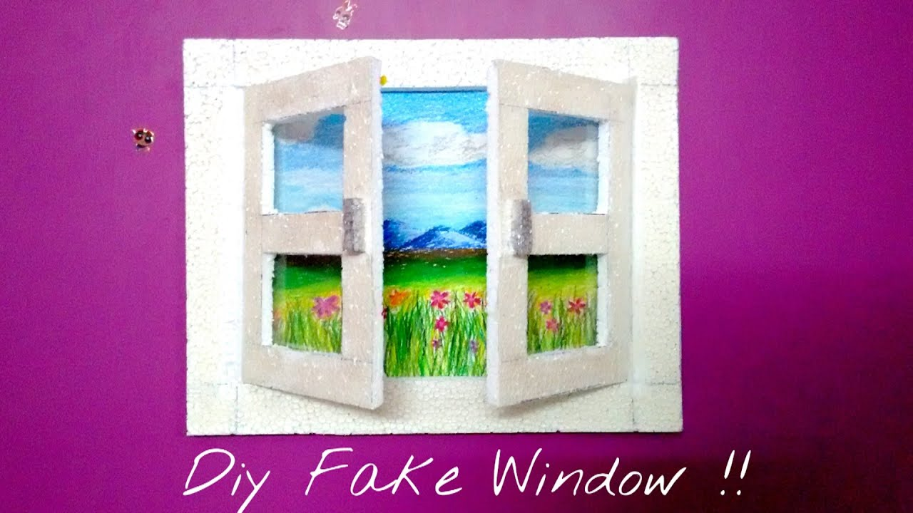 Revamp Your Room Diy Fake Window Saminspire Youtube