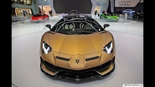 Lamborghini Aventador SVJ Roadster - Leaving the Geneva Motor Show