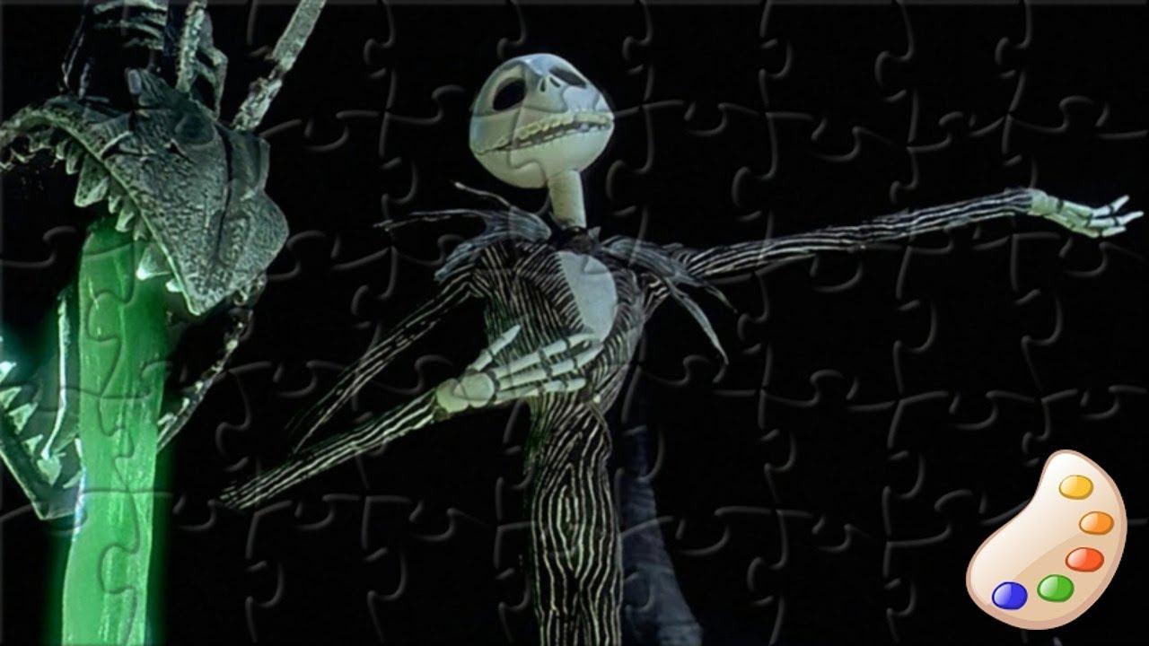 The Nightmare Before Christmas Jack Skellington Puzzle - YouTube